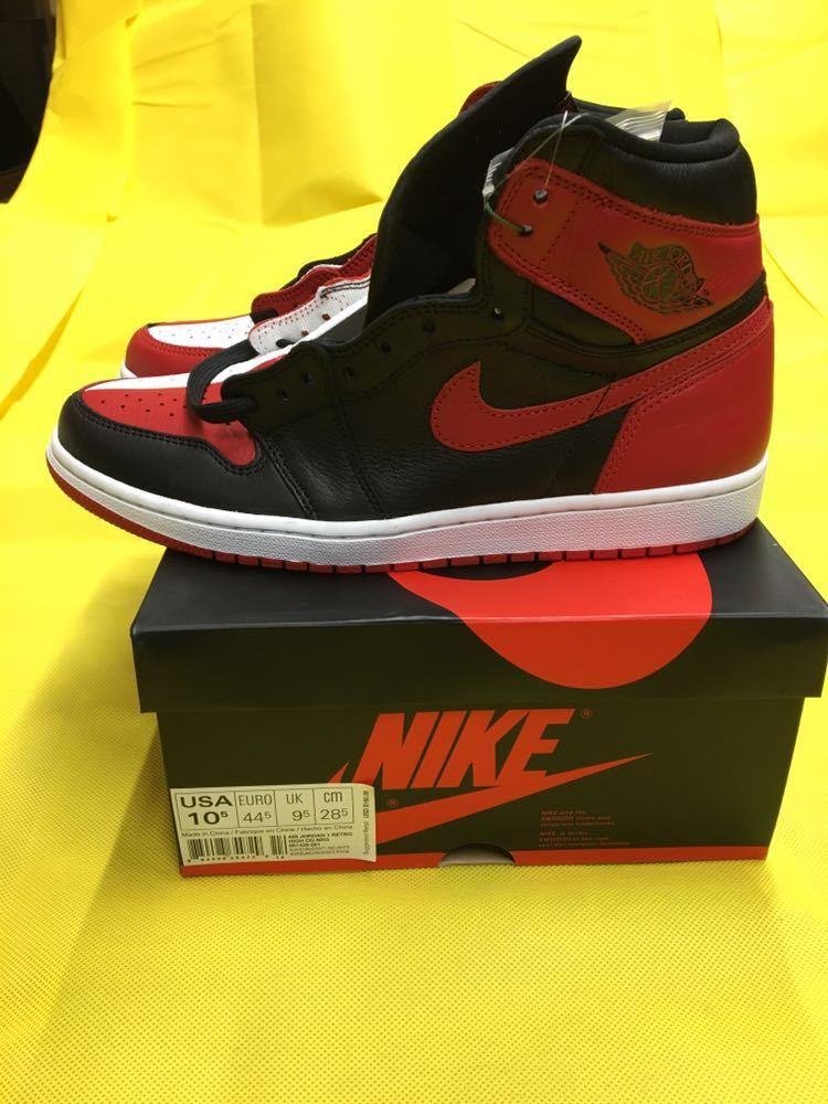 NIKE Air Jordan 1 Retro High OG Homage To Home 28.5cm US10.5 エアジョーダン1 オマージュ トゥ ホーム AJ1 28.5 supreme travis scott_画像3
