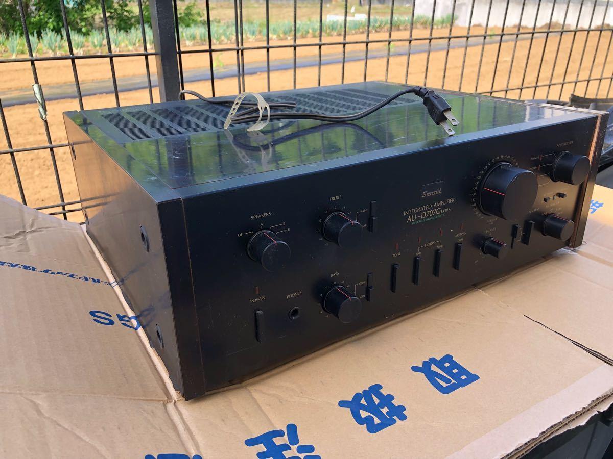 SANSUI アンプ D707Gエクストラ サンスイ 電源投入確認_画像3