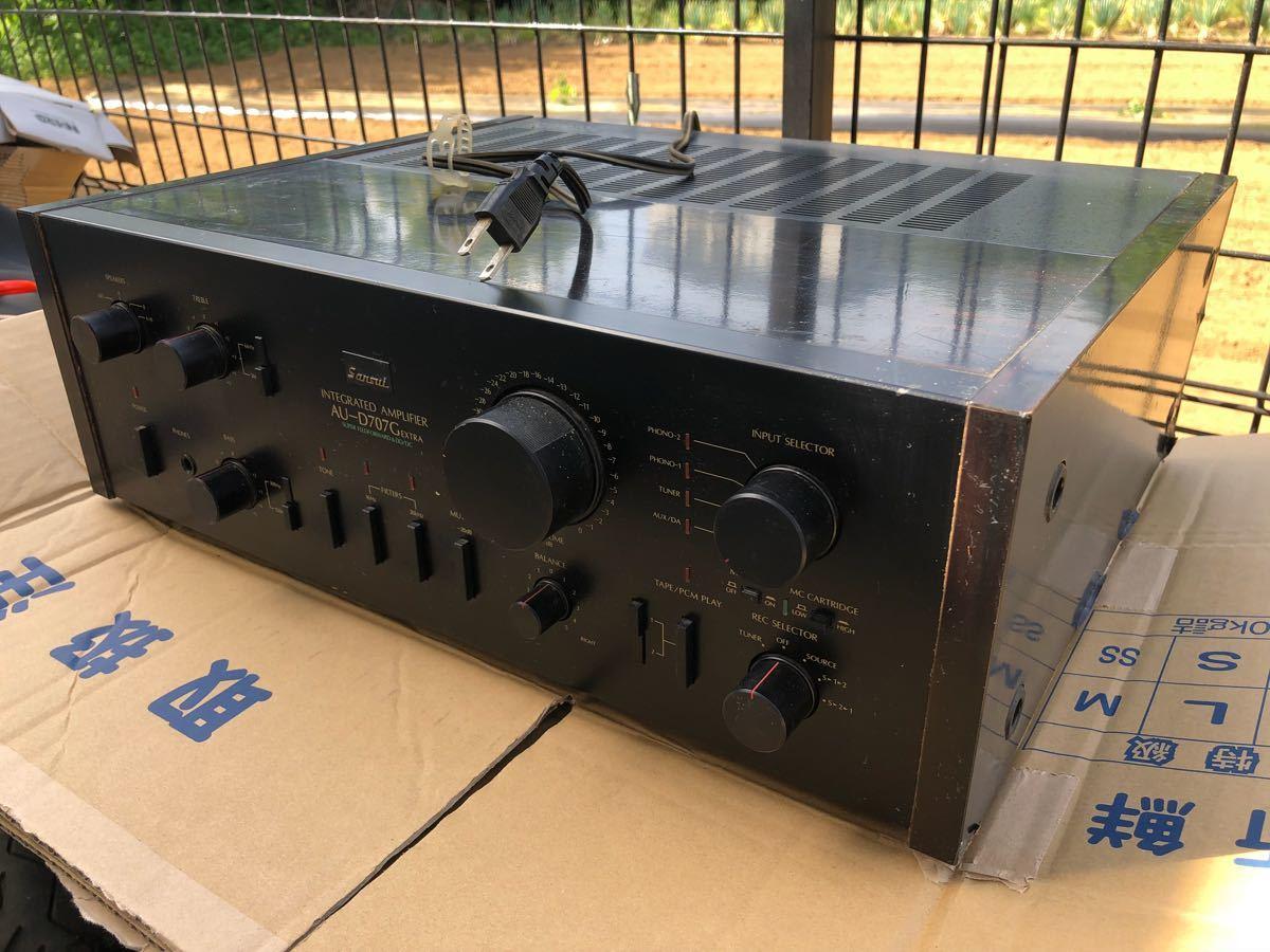SANSUI アンプ D707Gエクストラ サンスイ 電源投入確認_画像2