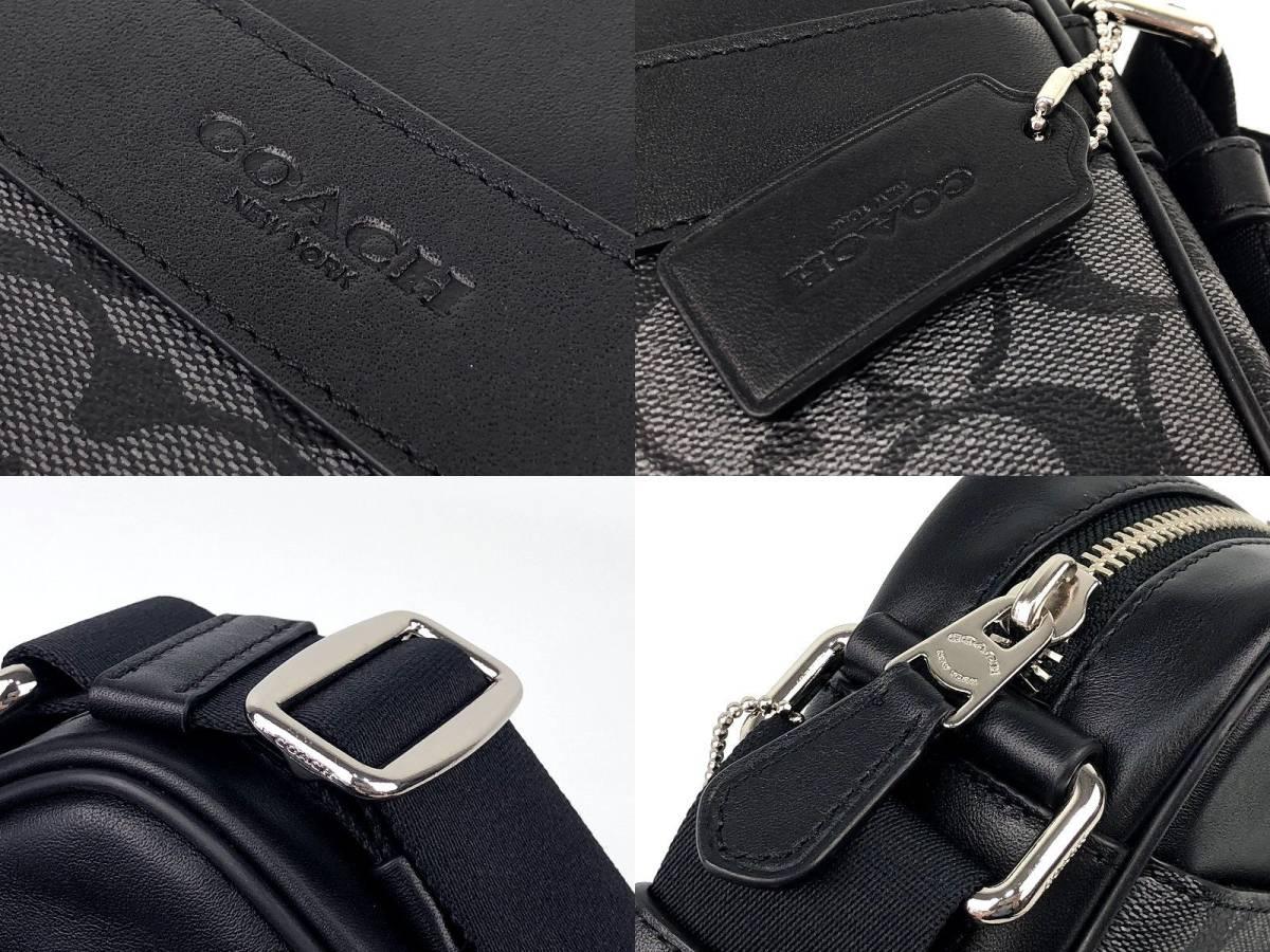 COACH コーチ メンズ シグネチャー PVC&レザー フライト クロスボディ バッグ ◆新品◆_画像7