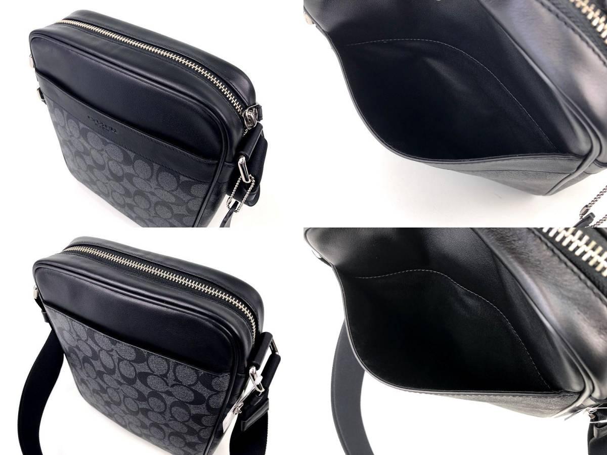 COACH コーチ メンズ シグネチャー PVC&レザー フライト クロスボディ バッグ ◆新品◆_画像6