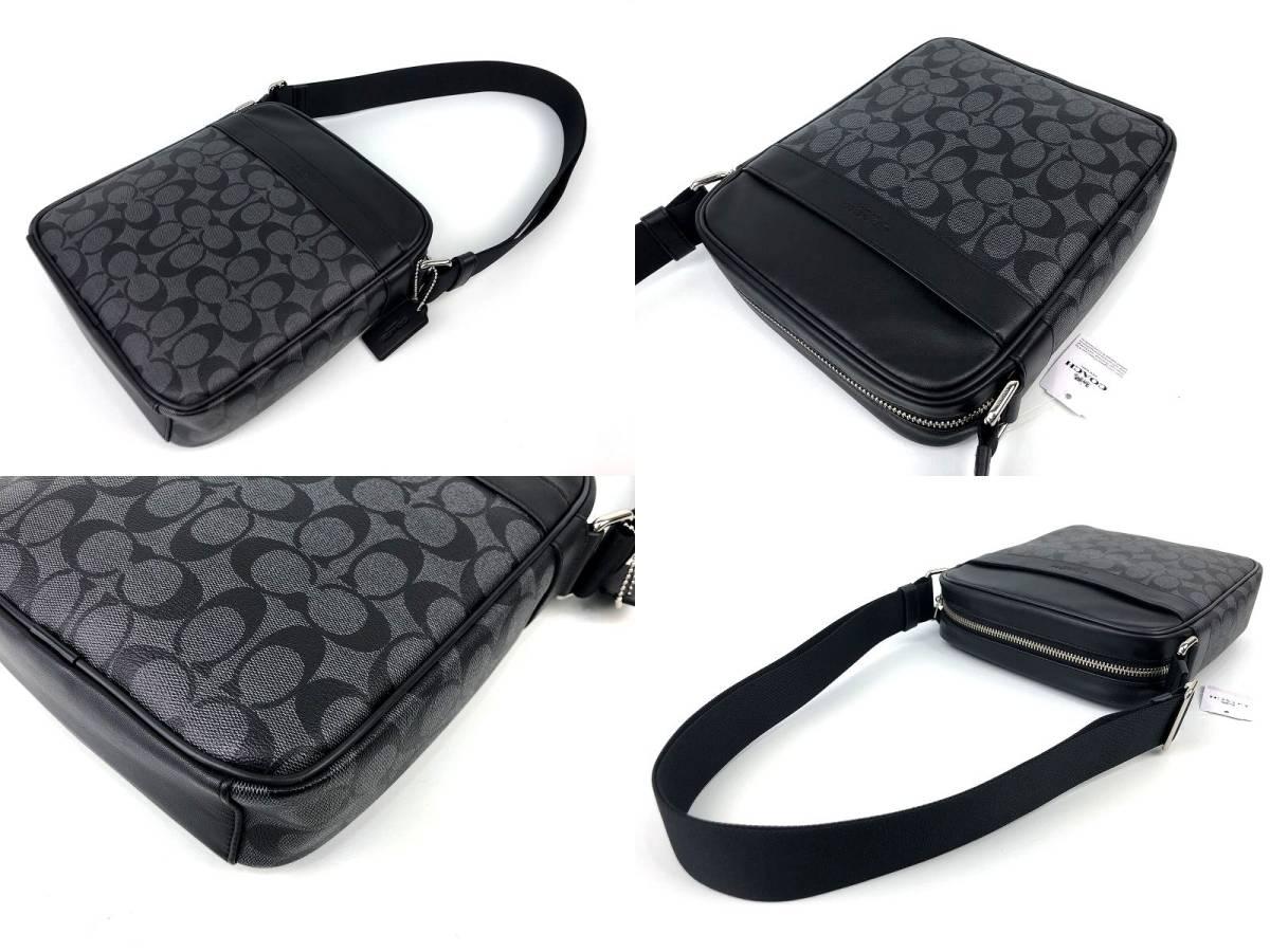 COACH コーチ メンズ シグネチャー PVC&レザー フライト クロスボディ バッグ ◆新品◆_画像4