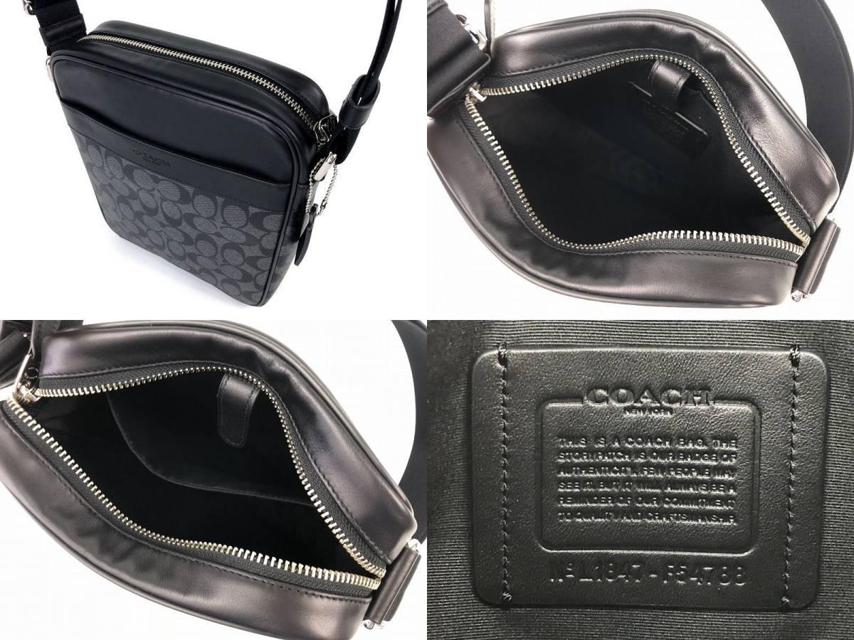 COACH コーチ メンズ シグネチャー PVC&レザー フライト クロスボディ バッグ ◆新品◆_画像5