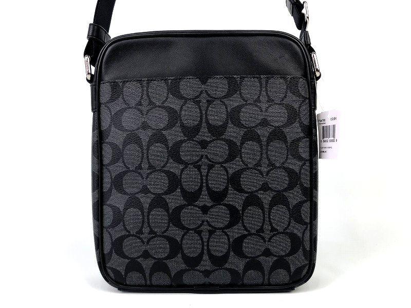 COACH コーチ メンズ シグネチャー PVC&レザー フライト クロスボディ バッグ ◆新品◆_画像3