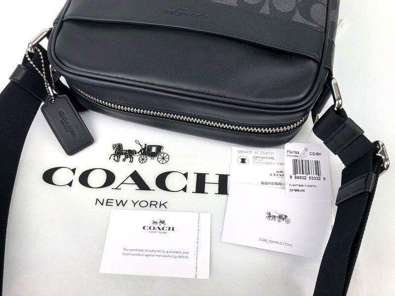 COACH コーチ メンズ シグネチャー PVC&レザー フライト クロスボディ バッグ ◆新品◆_画像8