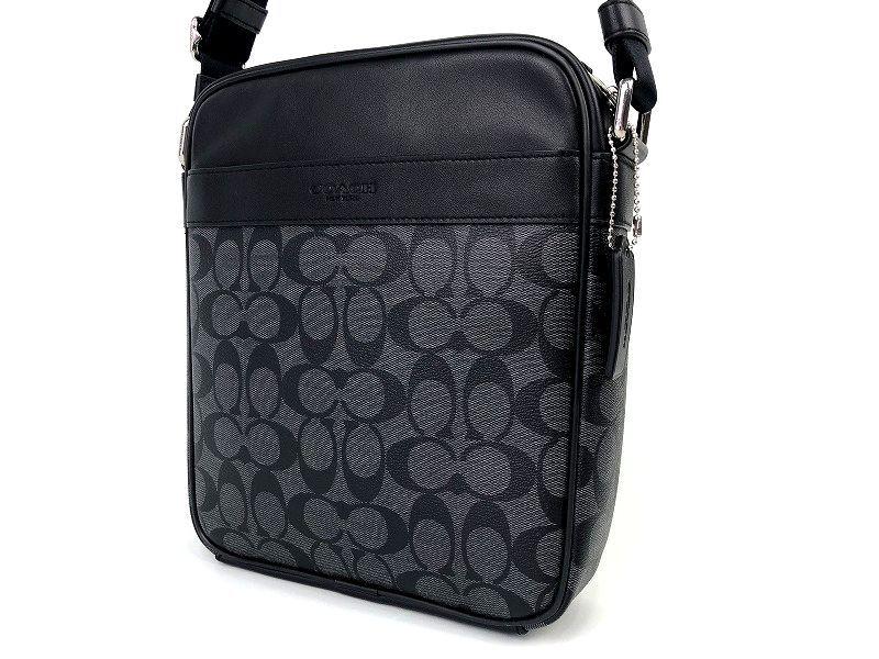 COACH コーチ メンズ シグネチャー PVC&レザー フライト クロスボディ バッグ ◆新品◆_画像2