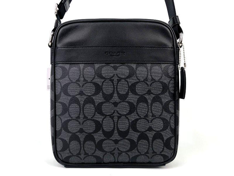 COACH コーチ メンズ シグネチャー PVC&レザー フライト クロスボディ バッグ ◆新品◆