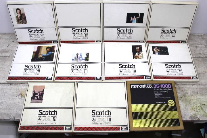 オープンリール 10号 まとめて 11本セット メタルリール SCOTCH MAXELL SONY 未確認 ジャンク品