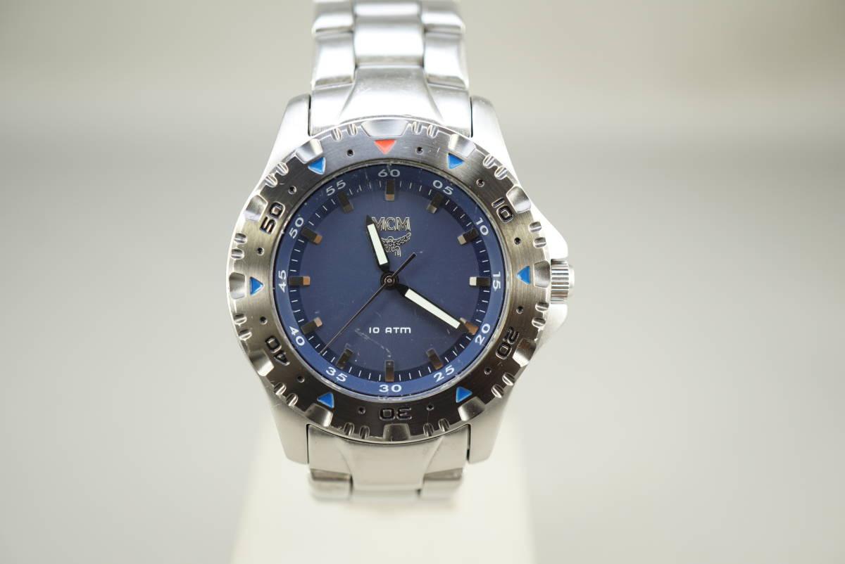 ★MCM MC 2141M クオーツ メンズ腕時計 電池交換済み稼働品★