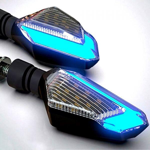 DUCATI ドゥカティ モンスター 696 796 821 900 1100 1200S 1200R 汎用 ポジション機能付き デュアル LEDウインカー 2個1set_画像1