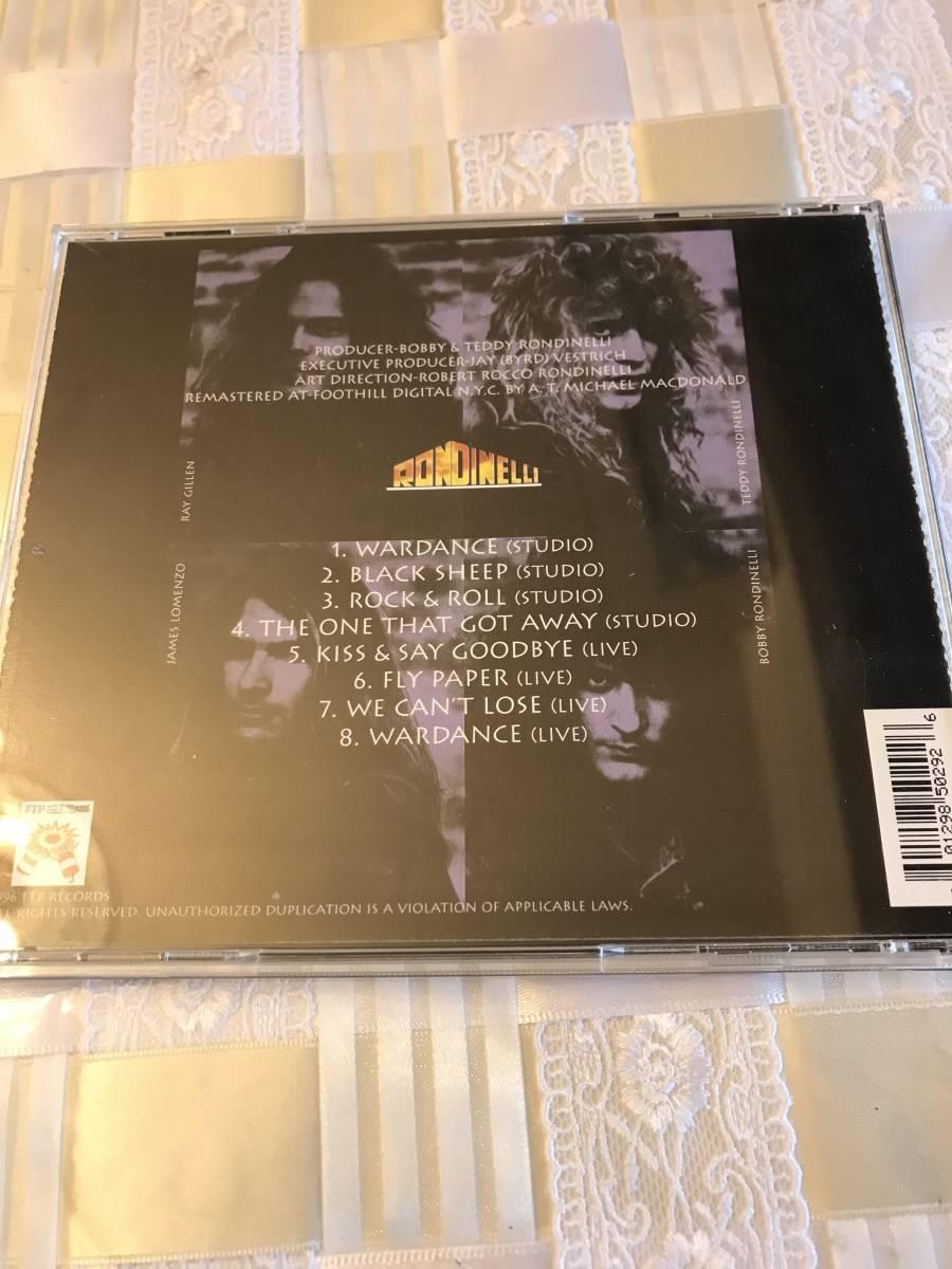 輸入版中古CD:RONDINELLIボビーロンディネリWARDANCEレイギラン_画像2