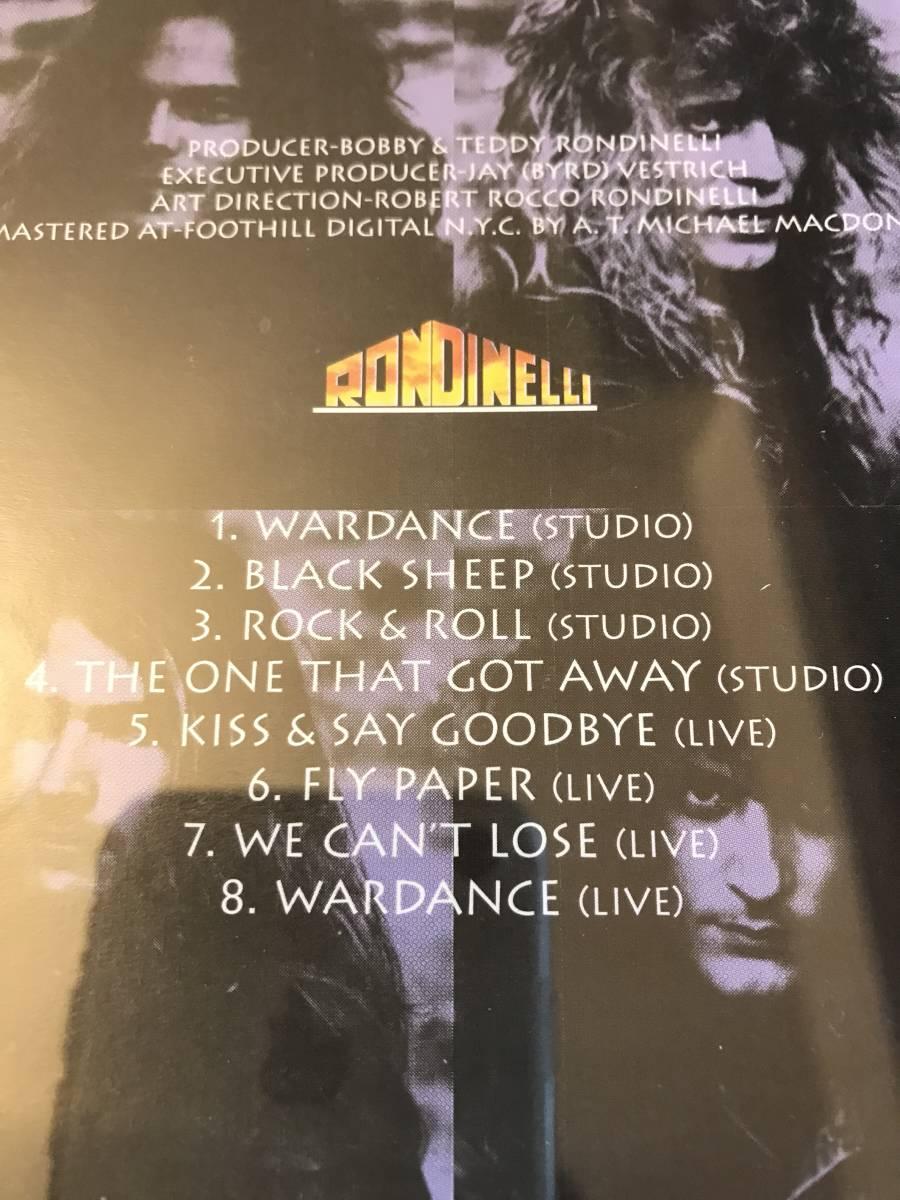 輸入版中古CD:RONDINELLIボビーロンディネリWARDANCEレイギラン_画像3