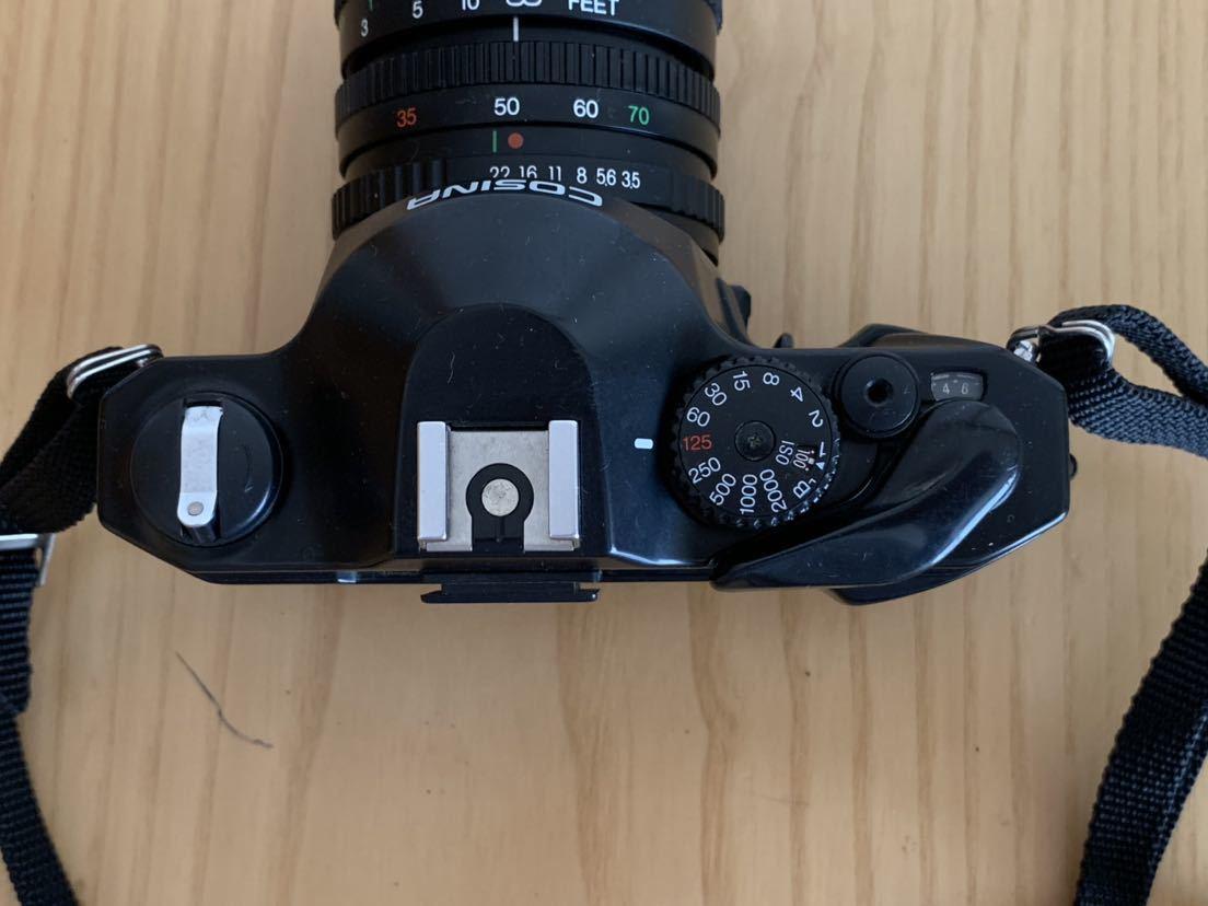 【ジャンク】No、02 COSINA C1S レンズ付きカメラ/COSINA 35-70mm 1:3、5-4、8 MC MACRO、動作未確認現状品_画像5