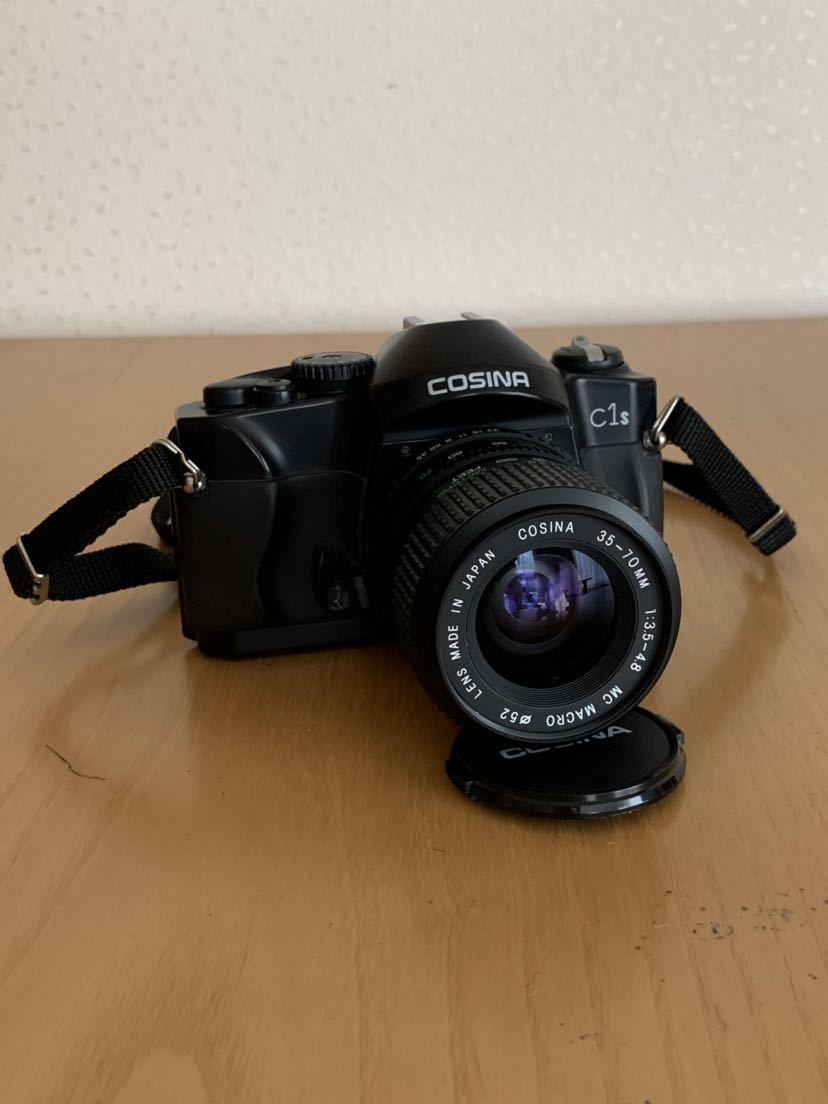 【ジャンク】No、02 COSINA C1S レンズ付きカメラ/COSINA 35-70mm 1:3、5-4、8 MC MACRO、動作未確認現状品_画像2