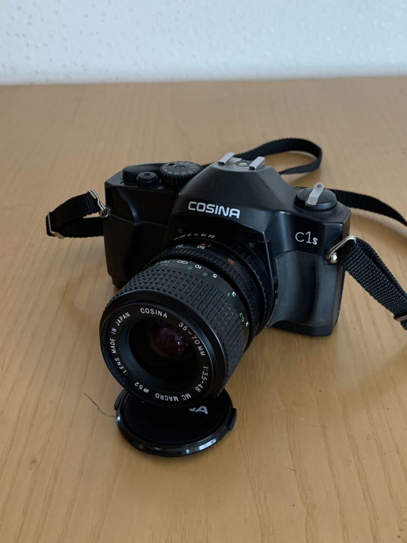 【ジャンク】No、02 COSINA C1S レンズ付きカメラ/COSINA 35-70mm 1:3、5-4、8 MC MACRO、動作未確認現状品