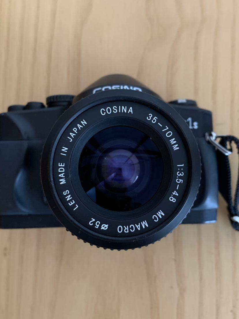 【ジャンク】No、02 COSINA C1S レンズ付きカメラ/COSINA 35-70mm 1:3、5-4、8 MC MACRO、動作未確認現状品_画像6