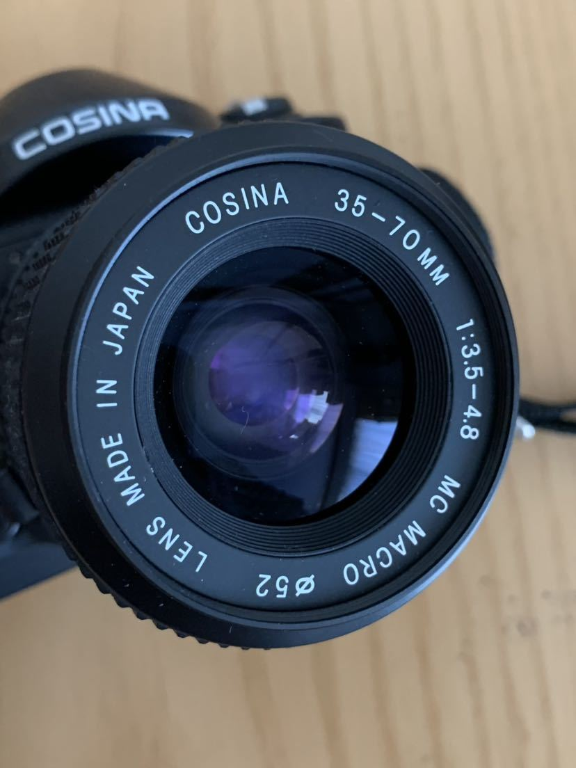 【ジャンク】No、02 COSINA C1S レンズ付きカメラ/COSINA 35-70mm 1:3、5-4、8 MC MACRO、動作未確認現状品_画像7