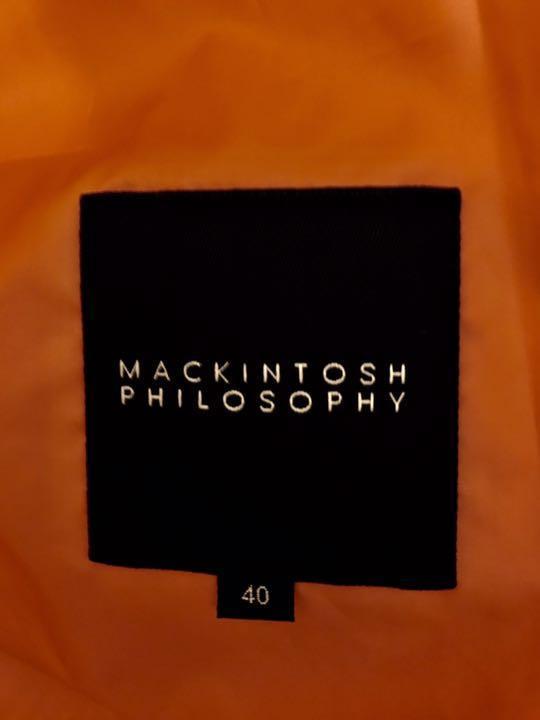 マッキントッシュ フィロソフィー オレンジ ポリエステル100%のチェスターコート_画像3
