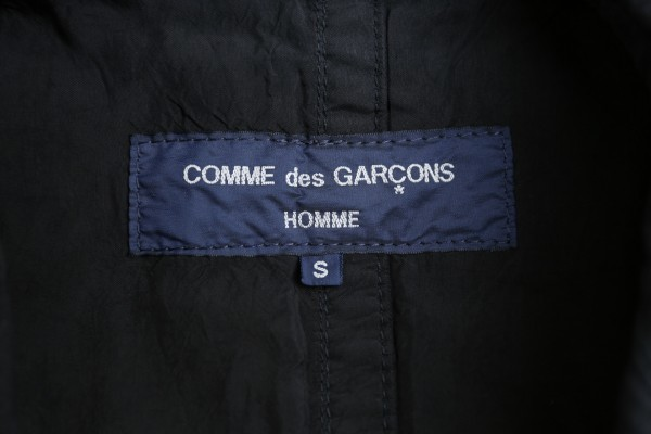 COMME des GARCONS HOMME コムデギャルソンオム♪コットン キュプラ ジャケット♪ブラック Sサイズ_画像3
