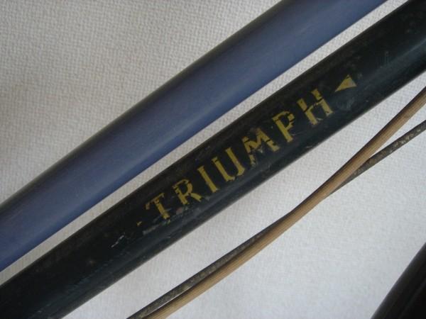珍60s希少イギリス英国アンティーク自転車トライアンフTRUIMPH昭和ラレー日米富士ビンテージ実用車アイビー宮田VANつばめRALEIGH70s欧州_画像3