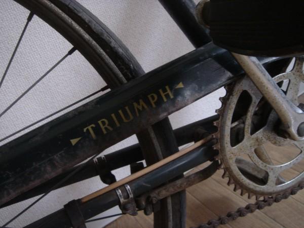 珍60s希少イギリス英国アンティーク自転車トライアンフTRUIMPH昭和ラレー日米富士ビンテージ実用車アイビー宮田VANつばめRALEIGH70s欧州_画像5