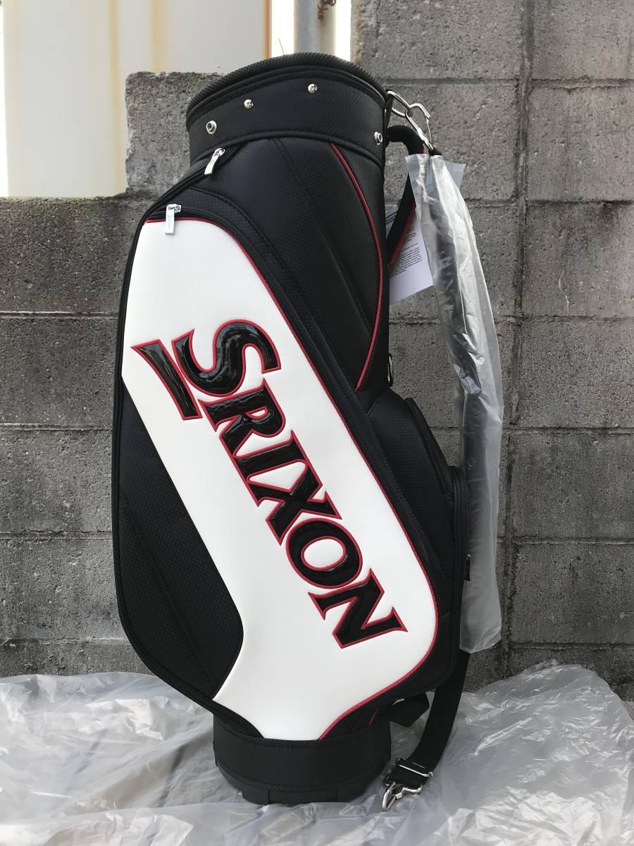新品 SRIXON(スリクソン) キャディバッグ GGC-S140G ブラック/ホワイト 未使用_画像2