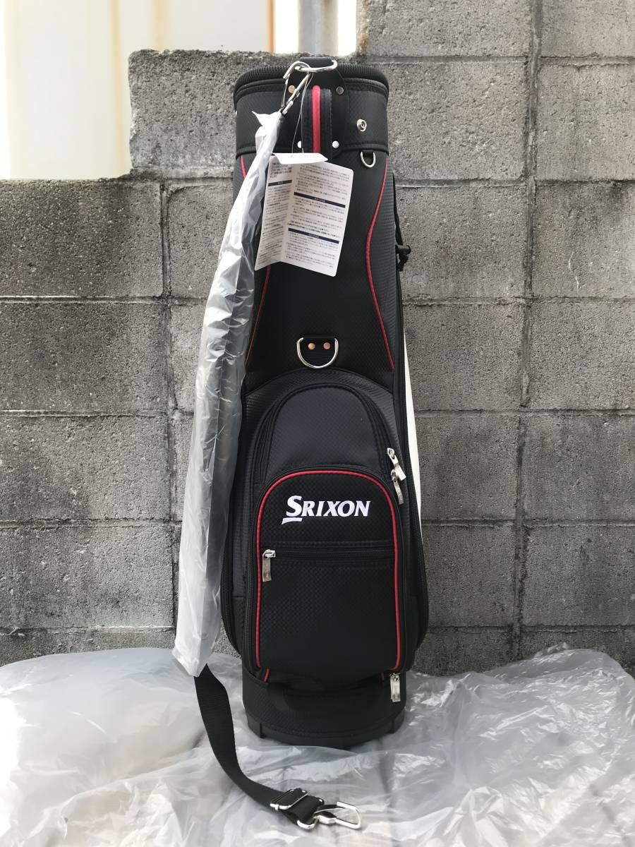 新品 SRIXON(スリクソン) キャディバッグ GGC-S140G ブラック/ホワイト 未使用_画像3