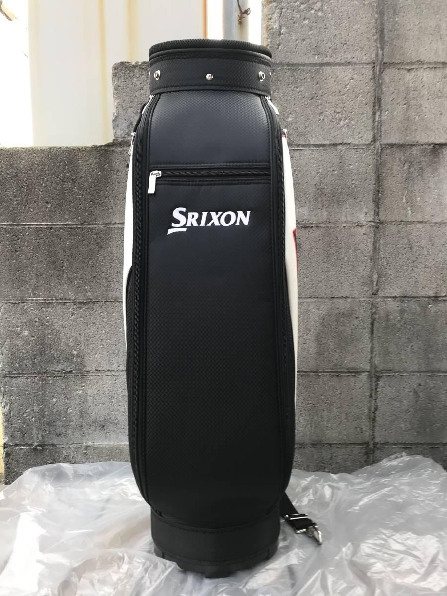 新品 SRIXON(スリクソン) キャディバッグ GGC-S140G ブラック/ホワイト 未使用_画像4