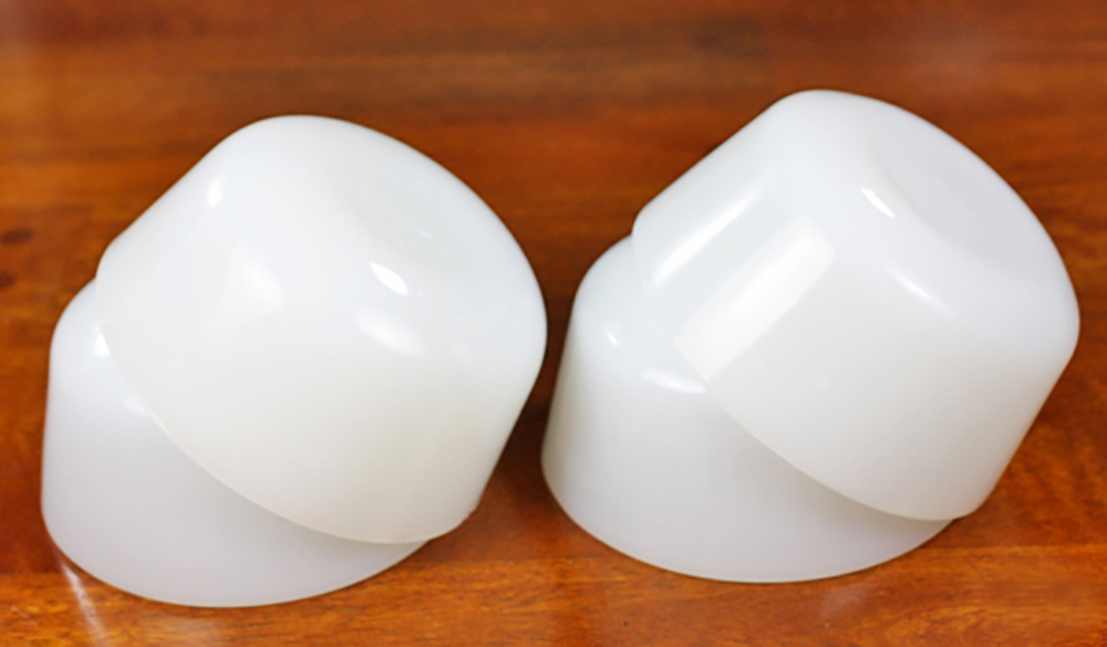 ファイヤーキング カスタードカップ ミルクホワイト 4個セット 耐熱 デザートカップ ビンテージ アメリカ製_画像2