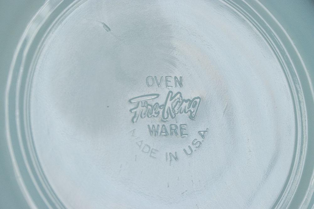 美品! ファイヤーキング ターコイズブルー カップ&ソーサー 耐熱 1950年代 ミルクグラス コーヒー ティー 紅茶 ビンテージ_画像4