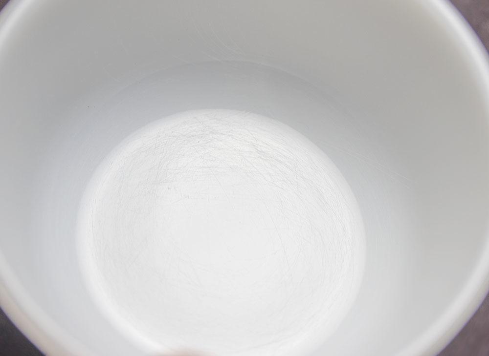 ファイヤーキング カスタードカップ ミルクホワイト 4個セット 耐熱 デザートカップ ビンテージ アメリカ製_画像7