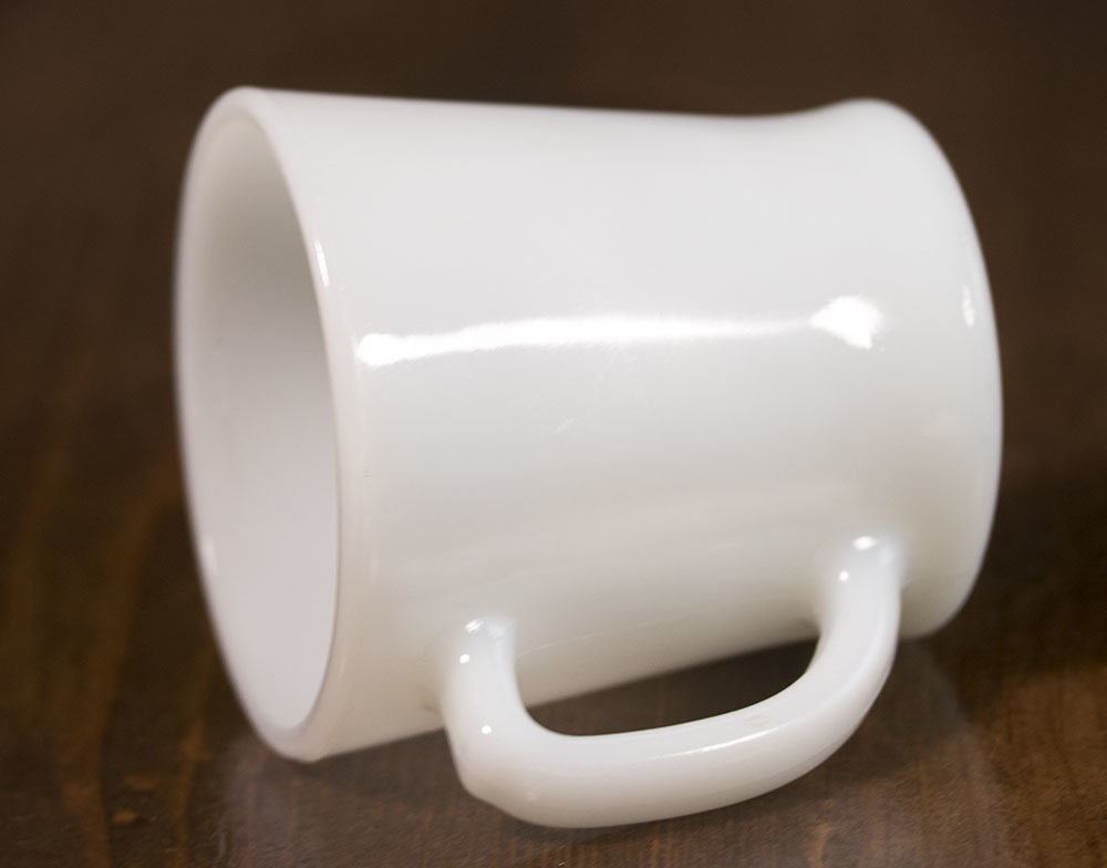 ファイヤーキング マグ ホワイト Dハンドル 耐熱 ミルクグラス コーヒー ティー ココア ビンテージ アメリカ製 キッチン雑貨_画像2