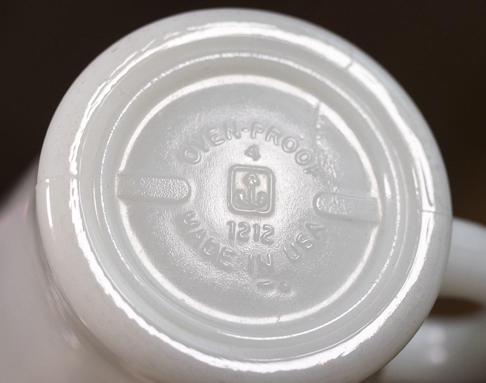 ファイヤーキング マグ ホワイト Dハンドル 耐熱 ミルクグラス コーヒー ティー ココア ビンテージ アメリカ製 キッチン雑貨_画像3