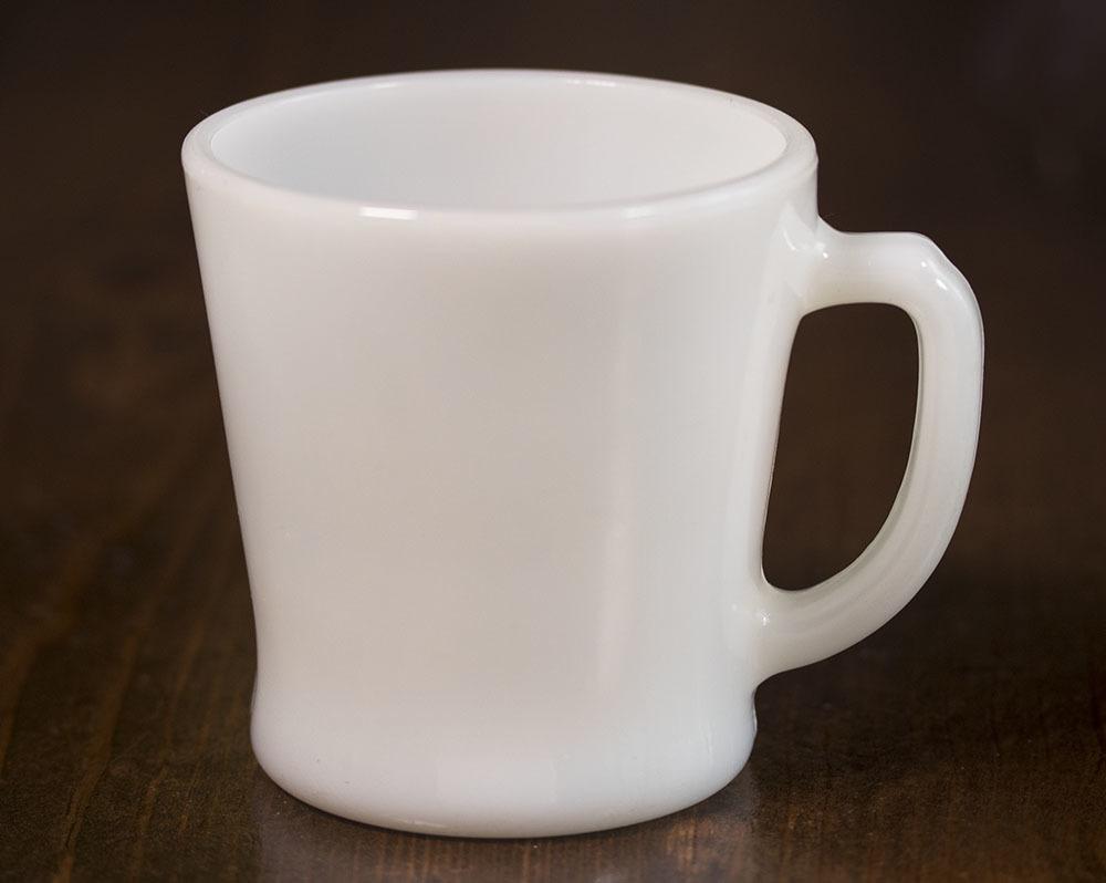 ファイヤーキング マグ ホワイト Dハンドル 耐熱 ミルクグラス コーヒー ティー ココア ビンテージ アメリカ製 キッチン雑貨