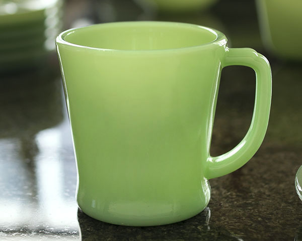 1940年代 ファイヤーキング マグ ジェダイ Dハンドル 耐熱 ミルクグラス コーヒー アメリカ ビンテージ ココア