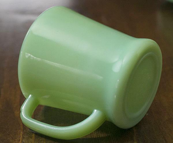 1940年代 ファイヤーキング マグ ジェダイ Dハンドル 耐熱 ミルクグラス コーヒー アメリカ ビンテージ ココア_画像2