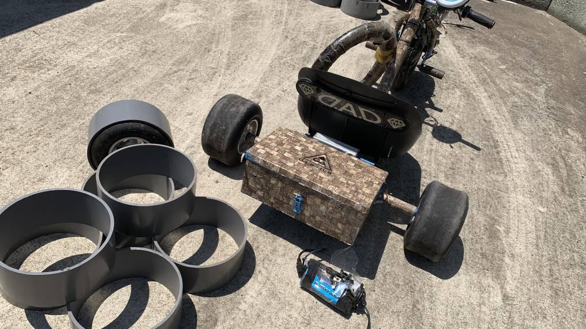 電動キックボード 電動 ドリフト トライク 直接引き取り限定 千葉市 フルセット 電動 スケート ボード_画像4
