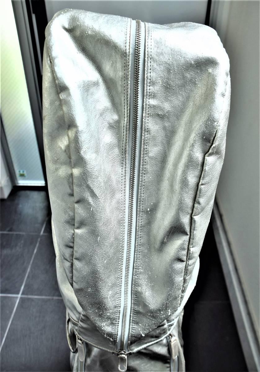 考英舎 キャディーバッグ 8.5インチ シルバー 牛革xポリウレタン製_画像5