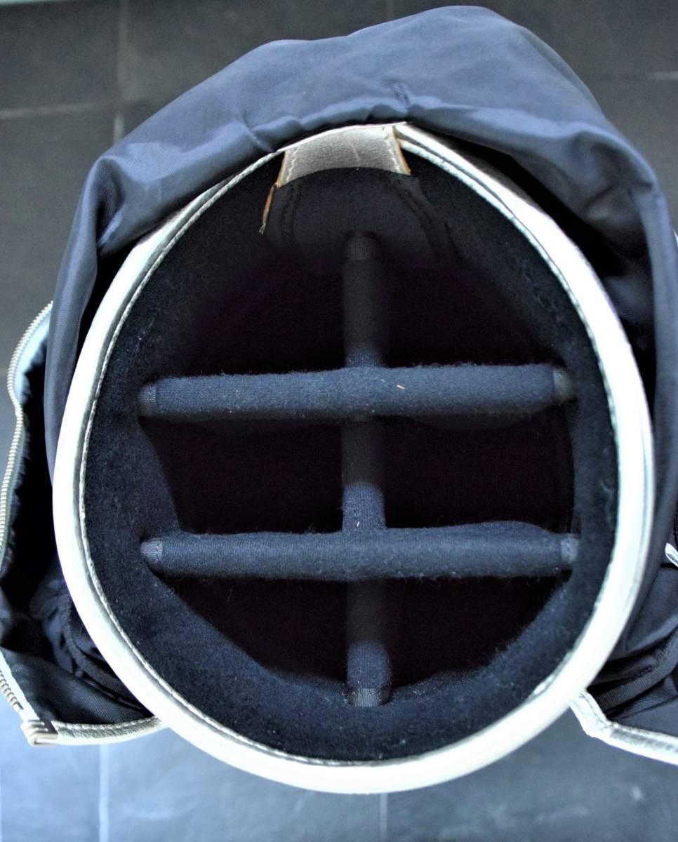 考英舎 キャディーバッグ 8.5インチ シルバー 牛革xポリウレタン製_画像6