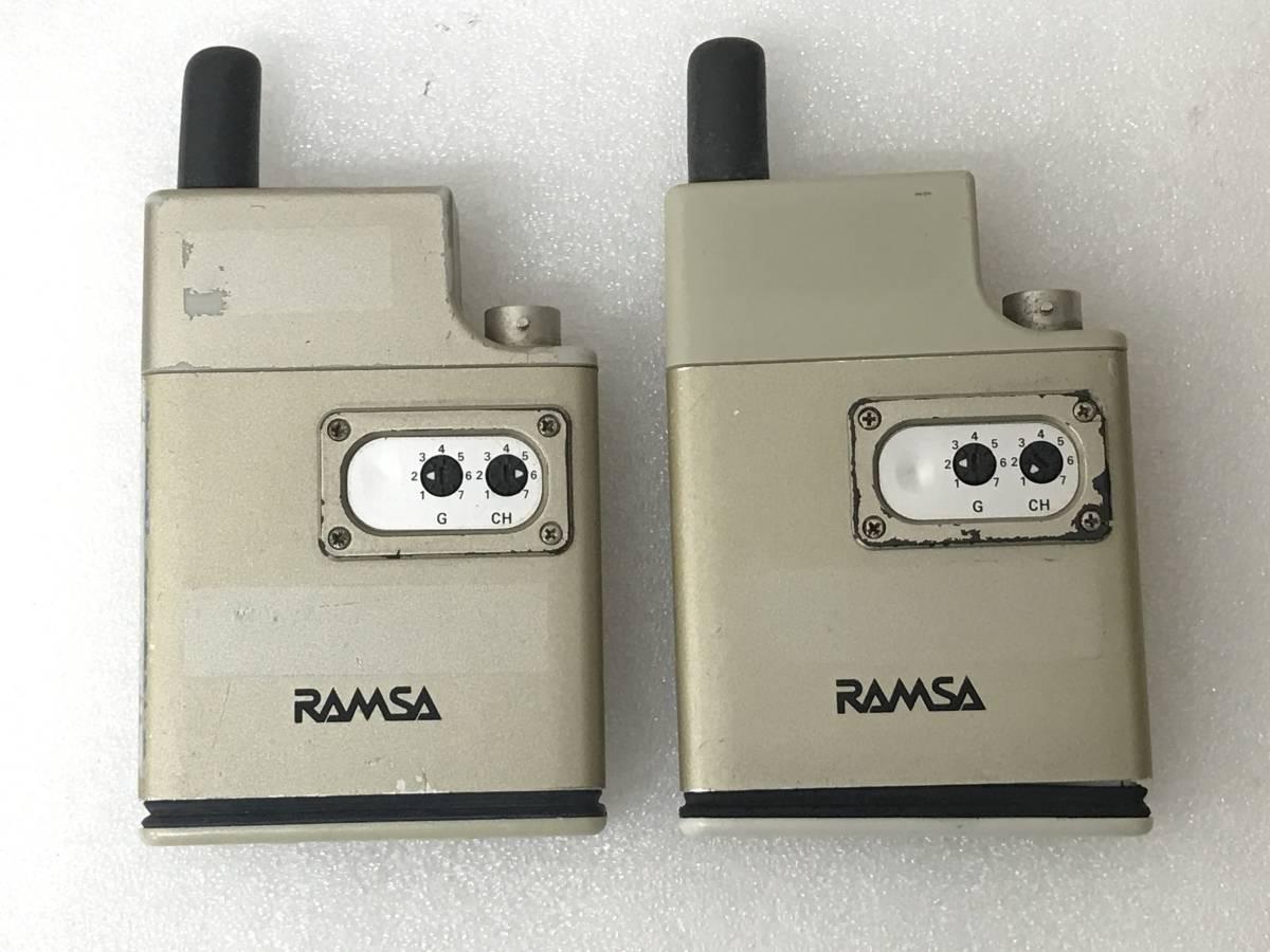【良品】Panasonic RAMSA WX-TB830 B帯 800MHz ワイヤレスマイクロホン×2 セット 単三アルカリ乾電池仕様 動作品