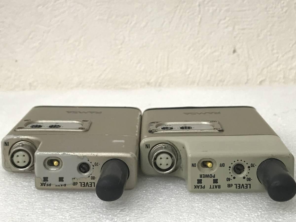 【良品】Panasonic RAMSA WX-TB830 B帯 800MHz ワイヤレスマイクロホン×2 セット 単三アルカリ乾電池仕様 動作品_画像6