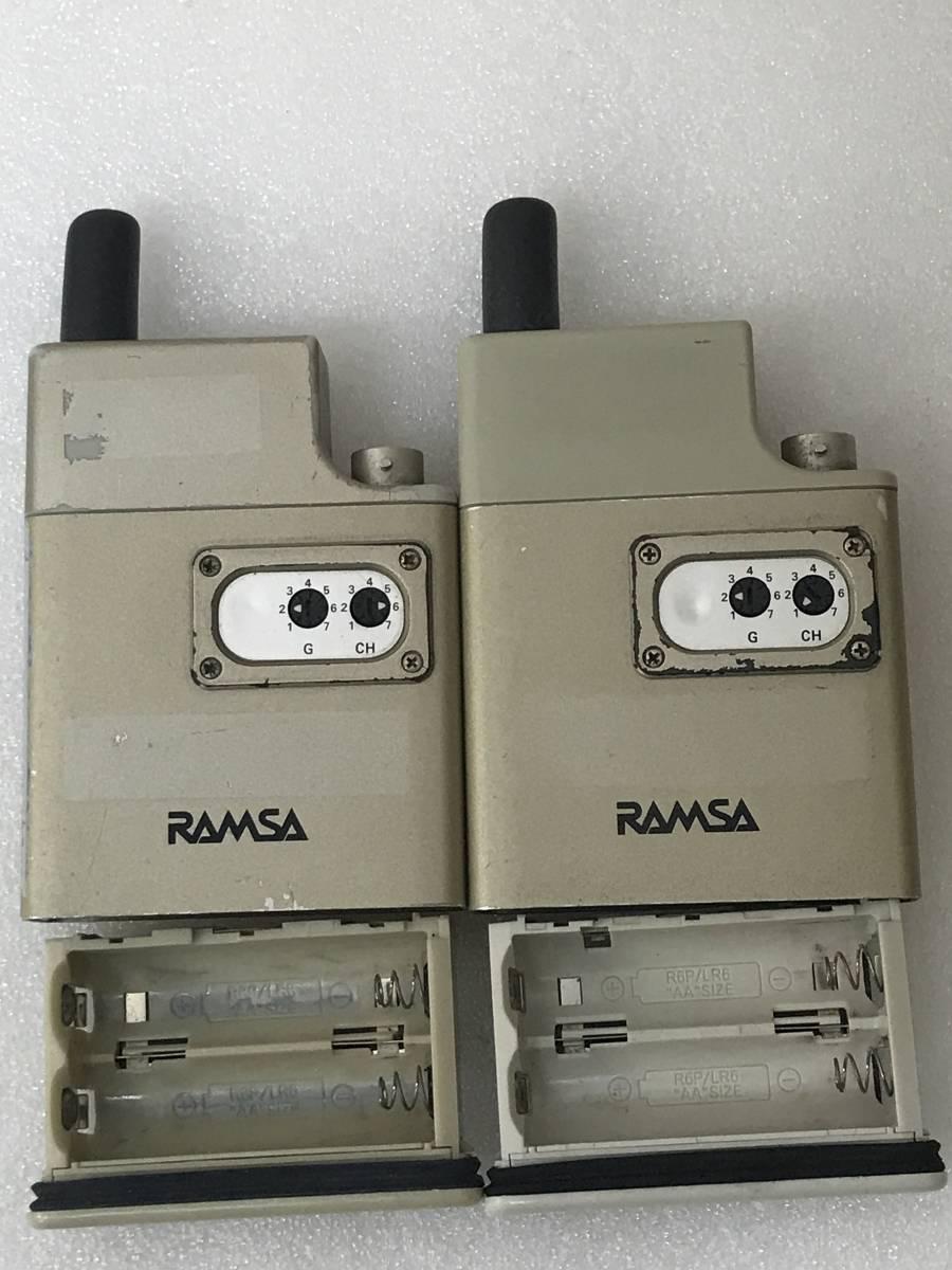 【良品】Panasonic RAMSA WX-TB830 B帯 800MHz ワイヤレスマイクロホン×2 セット 単三アルカリ乾電池仕様 動作品_画像5