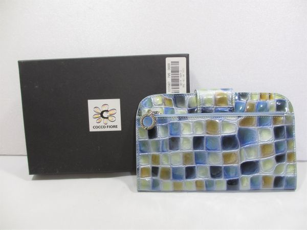 【未使用?】COCCO FIORE コルテーゼ マルチケース ネイビー&ゴールド 9170279 コッコフィオーレ レディース 女性 (検)財布