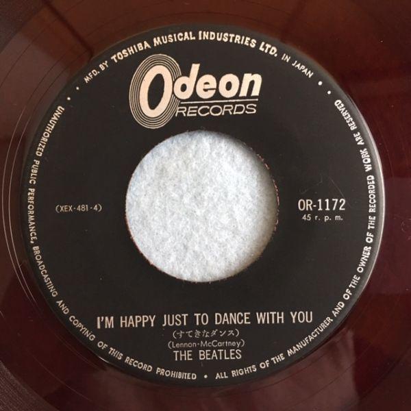 【赤盤】ビートルズ/すてきなダンス【OR-1172】The Beatles/I'm Happy Just To Dance With You(red wax)_画像6