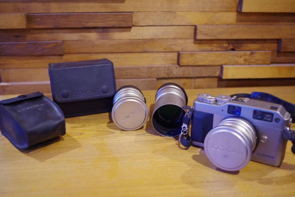 CONTAX G1 フィルムカメラ レンズセット ストロボおまけ
