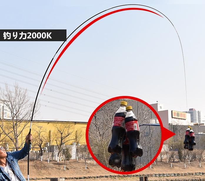初心者に最適 超軽量炭素繊維釣り竿 渓流竿 伸縮ハード いか竿 釣竿 フィッシング ロッド 耐荷重2000g可 超硬い 携帯 便利 滑り止め4.5m _画像3