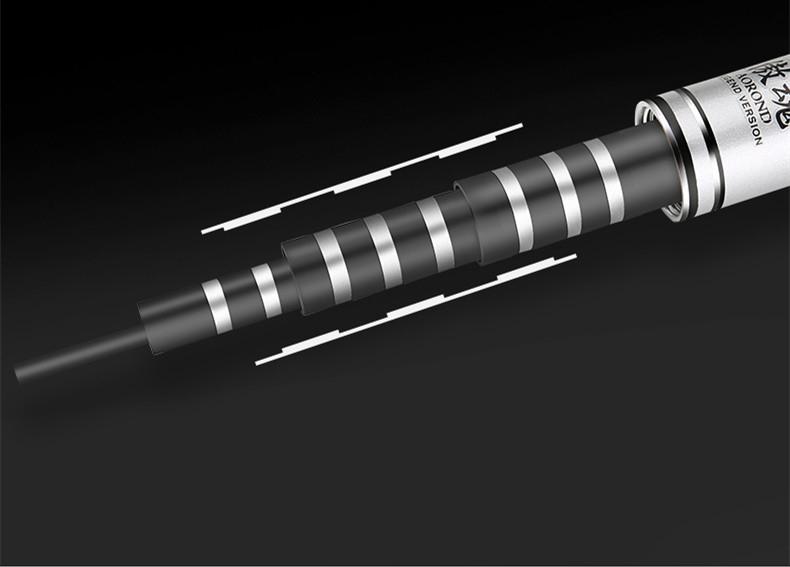 初心者に最適 超軽量炭素繊維釣り竿 渓流竿 伸縮ハード いか竿 釣竿 フィッシング ロッド 耐荷重2000g可 超硬い 携帯 便利 滑り止め4.5m _画像6