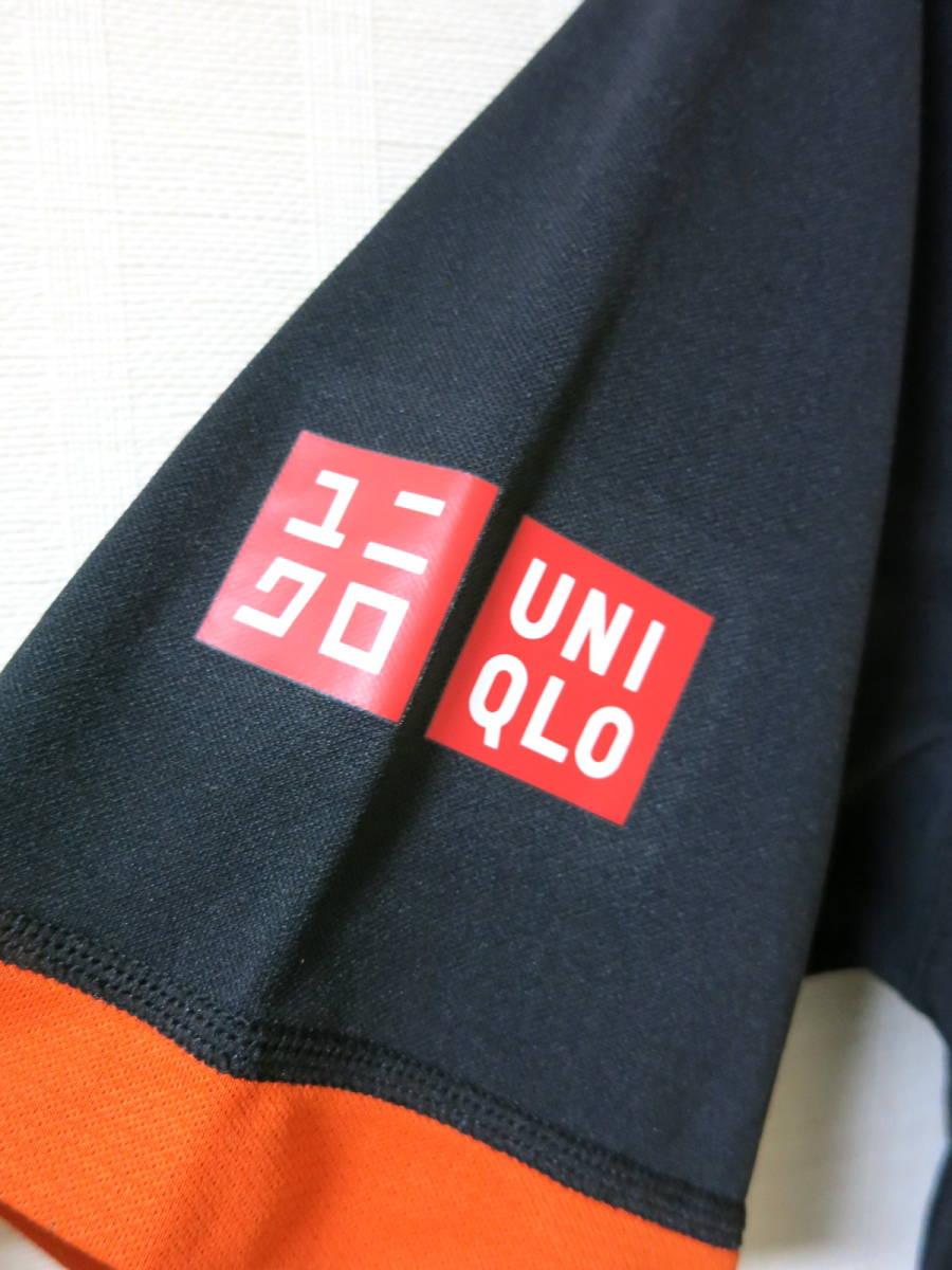 ユニクロ ★ 2015 全仏オープン ノバク ジョコビッチ モデル ポロシャツ S ★ UNIQLO テニス ウェア NDドライEX_画像3