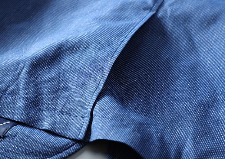 高品質★春夏新品 リネン& 綿 ストライプ 紳士服 メンズ 上着 ジャケット XL_画像8