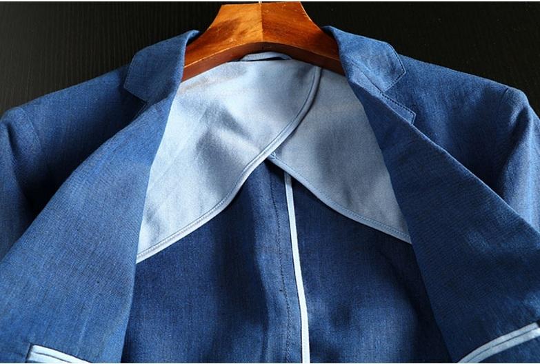 2019夏新品★リネン 100% 高品質★ 紳士服 メンズ 紳士服 上着 ジャケット L_画像10